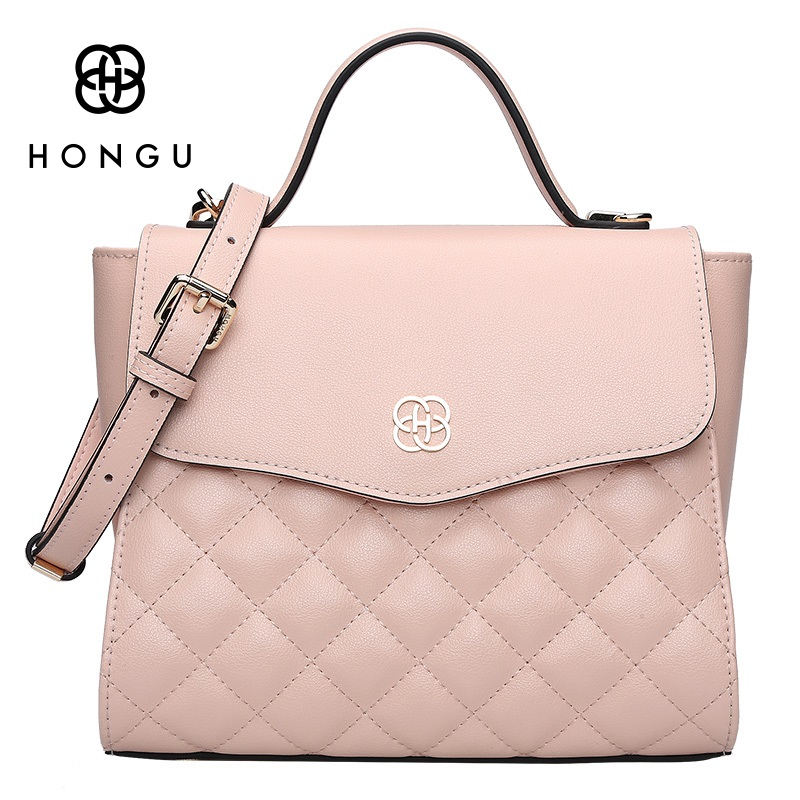 HONGU Fashion Smile Bag leather Womens Handbags Top-handle Bags Female Shoulder Purse sac a main femme de marque luxe cuir 2017 hongu genuine leather shoulder messenger bags for women pillow shape sac a main femme de marque luxe cuir 2017 black pink online