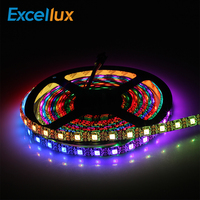DC5V WS2812B 5M/lot 60leds LED Strip RGB Waterproof IP30/IP65/IP67 Led Tape IC WS2812 Individually Addressable Smart Pixel Strip