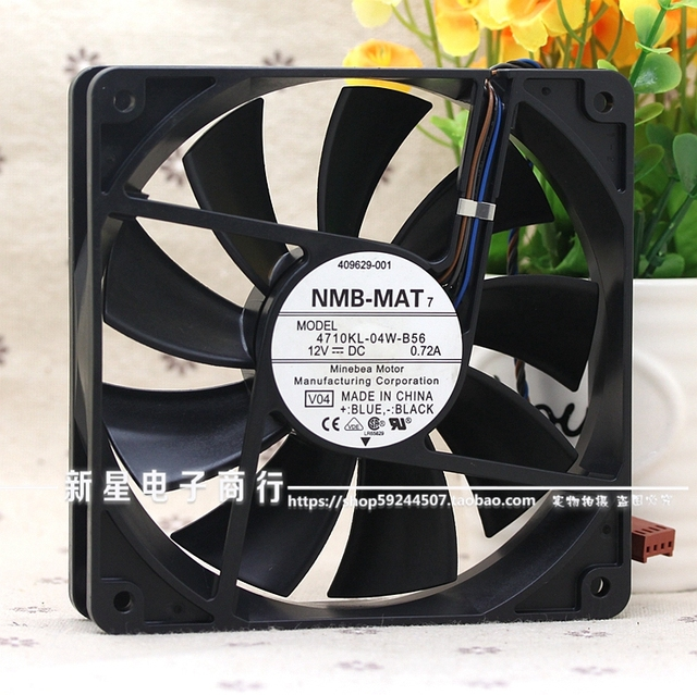 Original new 0.72A 12cm four wire temperature control PWM fan 12025 4710KL-04W-B56