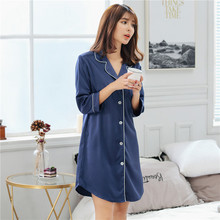 Spring and autumn robe men women robes silk nightdress sexy thin pajamas home service