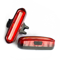 Portable USB Rechargeable Bike Tail Light Waterproof LED Flashlight Cycling Frame Rear Lamp Bicycle Lights 4 Style Accessories