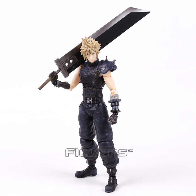 Play Arts Kai Final Fantasy VII 7 NR 1 Cloud Strife PVC Action Figure Collectible Model Speelgoed 26 cm