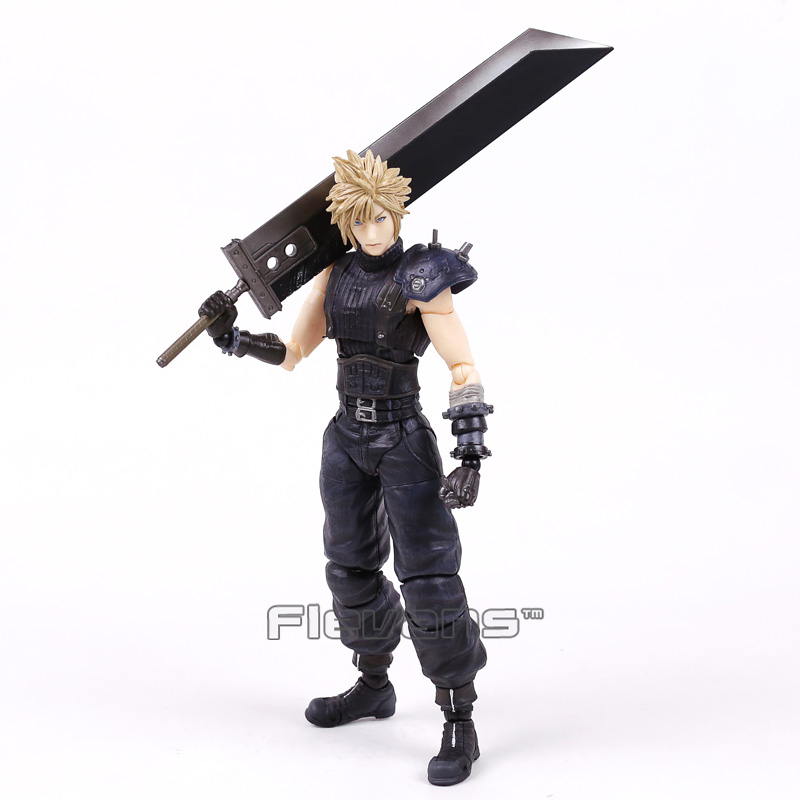 Play Arts Kai Final Fantasy VII 7 NO.1 Cloud Strife PVC Action Figure Collectible Model Toy 26cmPlay Arts Kai Final Fantasy VII 7 NO.1 Cloud Strife PVC Action Figure Collectible Model Toy 26cm