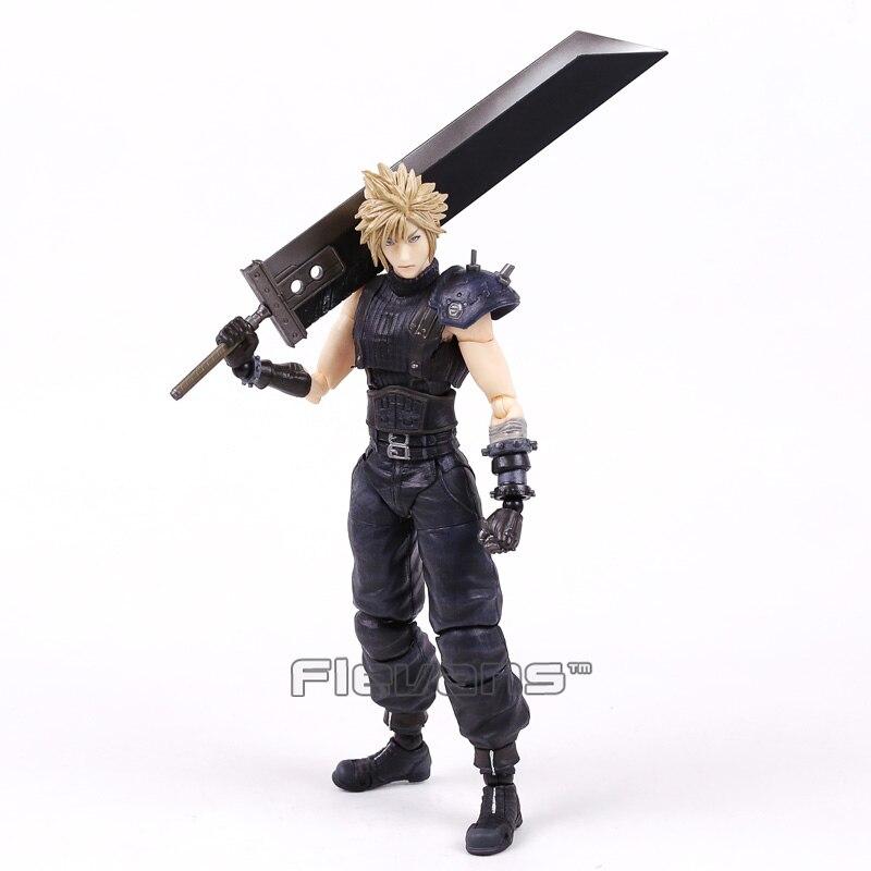Play Arts Kai Final Fantasy VII 7 NO.1 Cloud Strife ПВХ фигурка Коллекционная модель игрушки 26 см