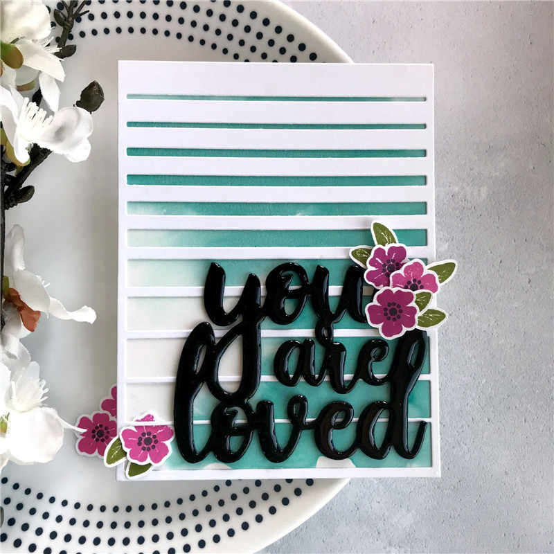 You Are Loved Word Letter Metal Cutting Dies for Scrapbooking 2019 New Craft Dies DIY Album Card Making Decor Paper