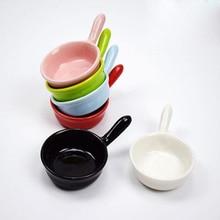 Bowl Porcelain Dinnerware Sauce Dish Small Plate Ceramic Cute Mini Solid