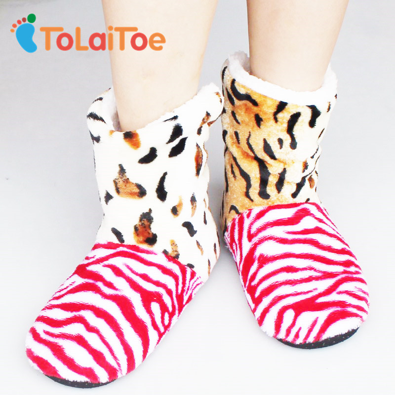 ToLaiToe Zebra Cotton Slippers Couple Of Men And Women At Home Shoes Good Quality Household slippers Soft Warm 6 Color men at arms