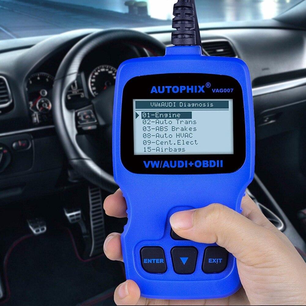 Autophix VAG007 Car Diagnostic Scanner for Volkswagen vw Audi Skoda SRS ABS Oil Service Reset Tool OBD2 Scan Tool Automotive car obd2 obdii oil inspection service reset tool