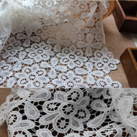 Wholesale And Retail Unique Net White Lace Guipure Fabric For Party Dress 5 Yards Lot