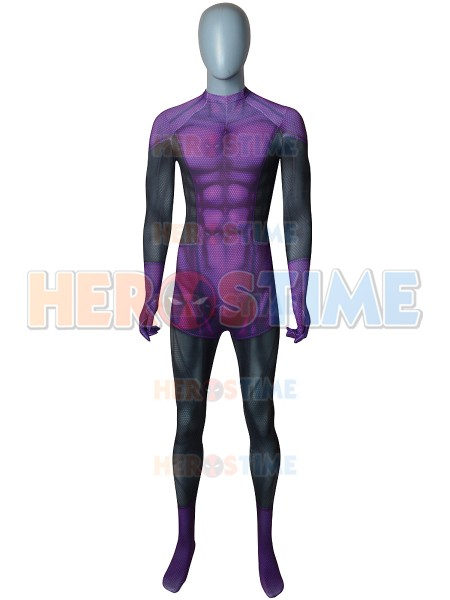 3D Print X-men Beast Boy Cosplay Costume Lycra Halloween Comics Xmen Superhero Costume Zentai Catsuit Kids Children Bodysuits