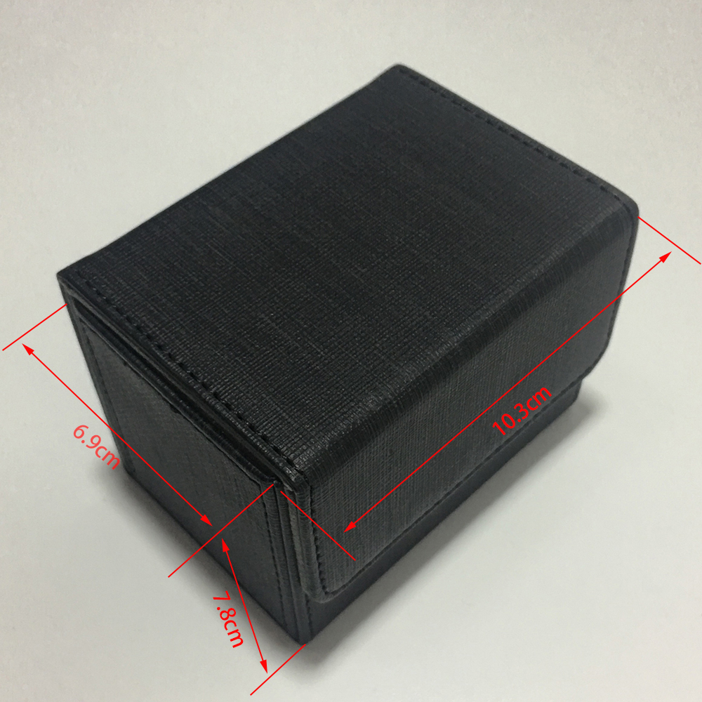 Black Color Side Load Small Deck Box Side Open Deck Case For Magic Board Game Cards: Black Color