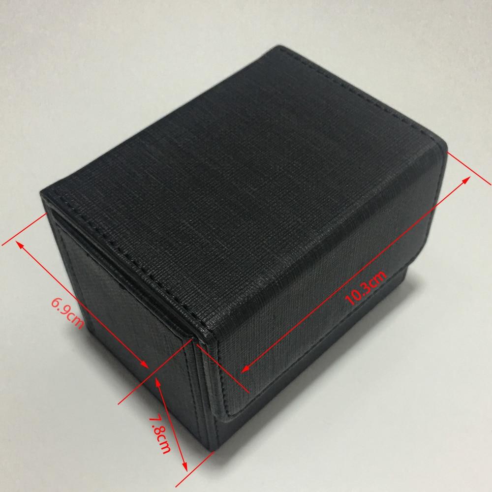 Black Color Side Load Small Deck Box Side Open Deck Case For Magic Board Game Cards: Black Color