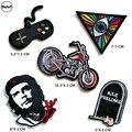 Biker Stickerei Patches für Kleidung DIY Streifen Spiel Maschine Appliques Kleidung Aufkleber Eisen auf Grab Abzeichen @ U2