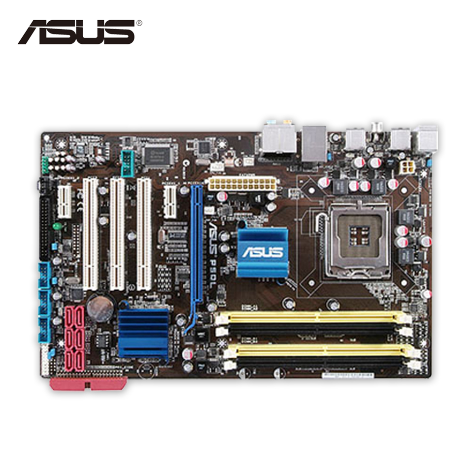 Asus P5QL Original Used Desktop Motherboard P43 Socket LGA 775 DDR2 8G SATA2 USB2.0 ATX On Sale asus p5g41 m le original used desktop motherboard g41 socket lga 775 ddr2 8g sata2 usb2 0 uatx