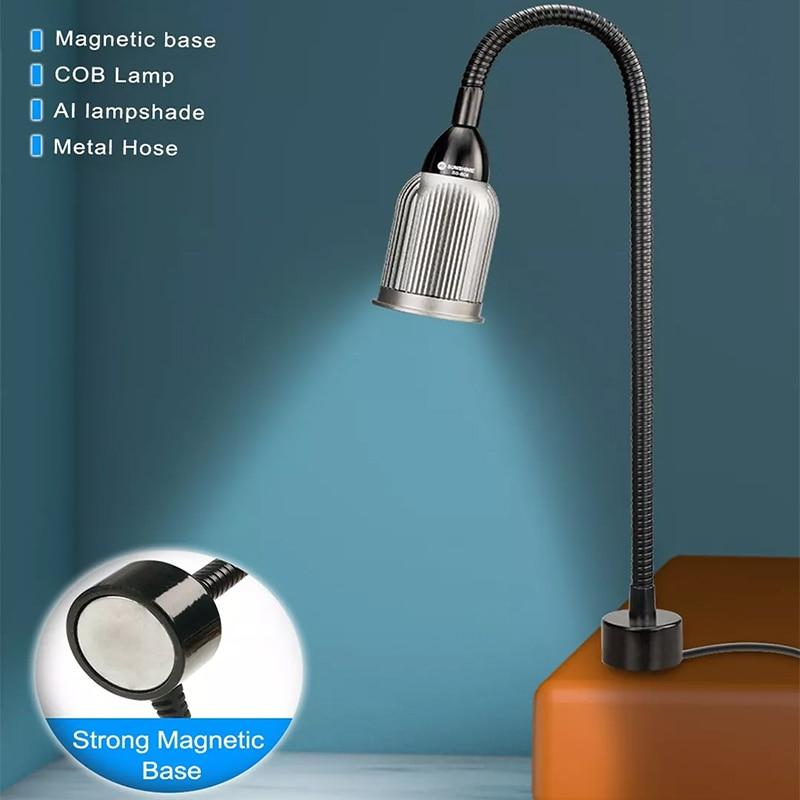 Lâmpada de Alumínio Reparo do Telefone Luz para Iphone Base Magnética Forte Pavio Abajur Led Ipad Samsung Ferramentas Móvel Outils Cob
