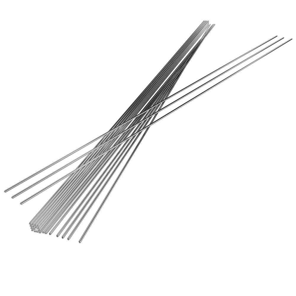 Alambre de soldadura de aluminio de baja temperatura Flux Cored Al Soldering Rod No necesita soldadura en polvo 10/20 / 50PCS 2mm * 500mm alambre