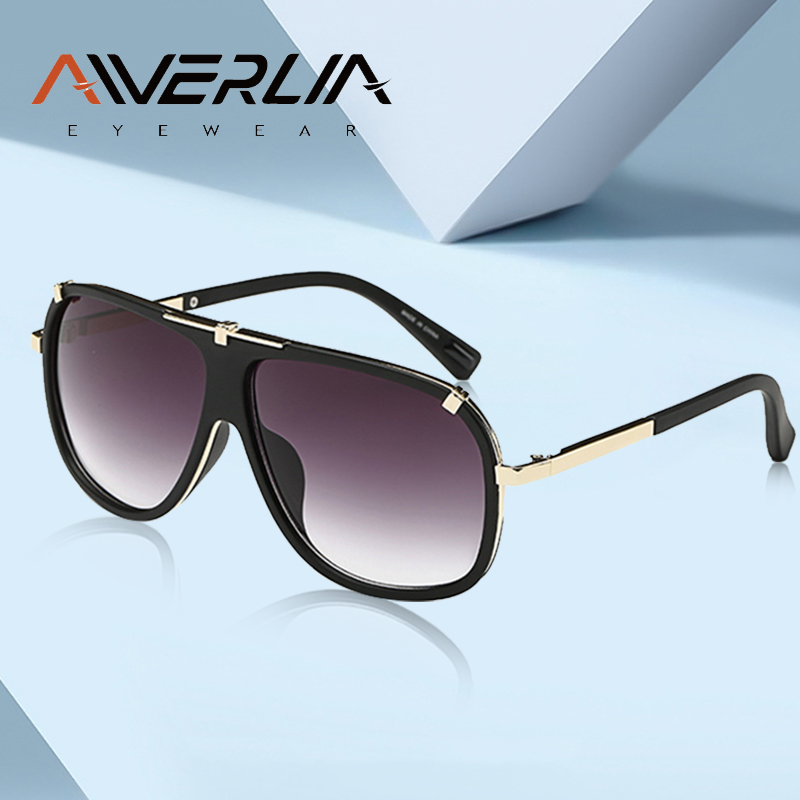 AIVERLIA Sunglass Man Vintage Mens Sunglasses Brand Designer Sunglass Male UV400 Gradient Lens Oculos Masculino Gafas AI41