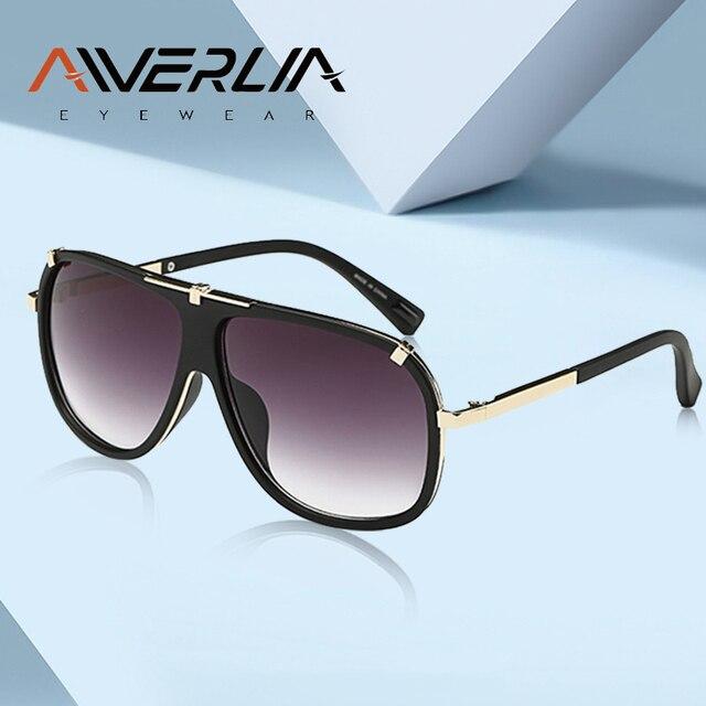AIVERLIA Sunglass erkek eski erkek güneş gözlüğü marka tasarımcısı Sunglass erkek UV400 degrade Lens óculos Masculino Gafas AI41