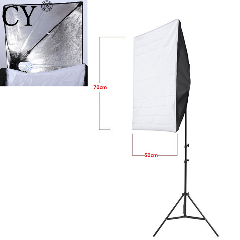 CY New E27 40W <font><b>LED</b></font> Light 220V Portable 50cm x 70cm <font><b>Photo</b></font> <font><b>Studio</b></font> Softbox With <font><b>Studio</b></font> Photography 200cm Light Stand Kit