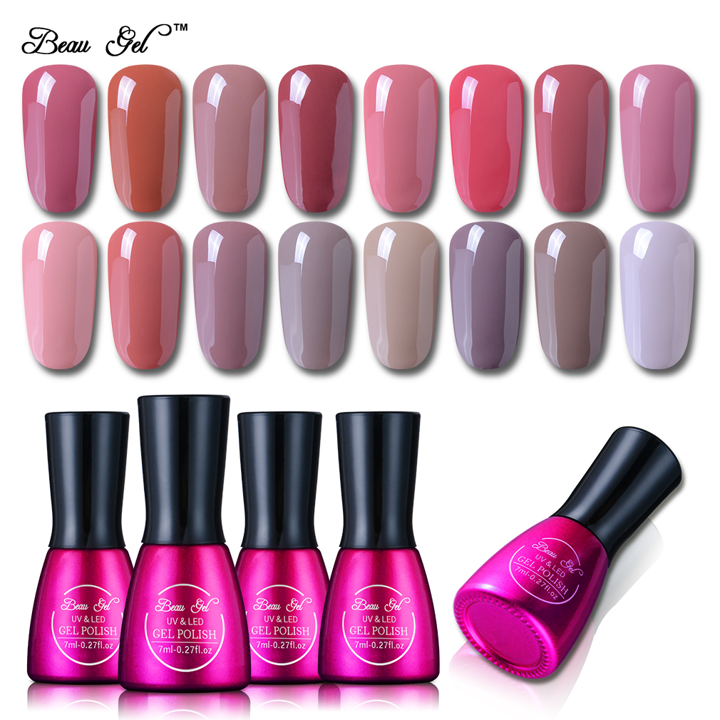 Beau Gel 7ml UV gel lak za nohte Nude Color Series namočite gel lak dolg trajen gel za nohte gel lak za nohte DIY