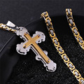 High Grade New Cross Pendants Necklace Religious Jewelry Stainless Steel  Cross Necklaces for Men