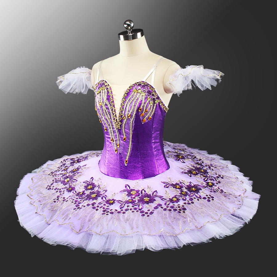 Professional Ballet Tutu Modern Ballet Costume Purple Women Ballet Stage Dress Romeo and Juliet Performance Pancake Tutu Girl in Ballet from Novelty Special Use
