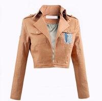 Titan ceket shingeki on saldırı hiçbir kyojin ceket legion cosplay kostüm ceket kaban yüksek kalite