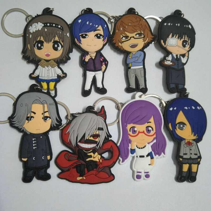 Japanese Anime Tokyo Ghoul Keychain PVC Dijiao Keychain Double PVC Keychain Wholesale Costume Props Collection