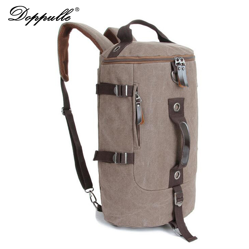 DOPPULLE 2017 New High Capacity Travel Bag New Arrival Cylinder package Multifunction Rusksack Male Fashion Backpack