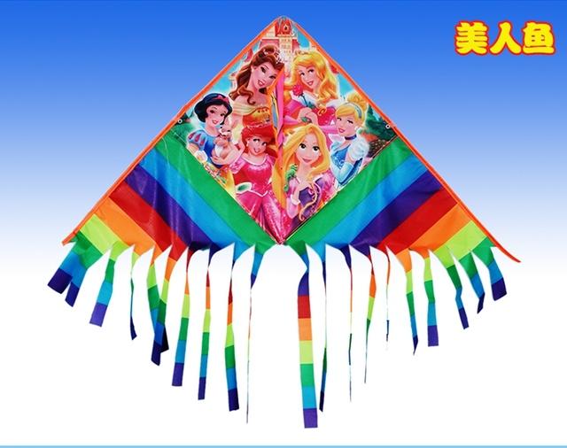 Alta calidad del arco iris cometa parapente con mango juegos bird kite línea de la cometa weifang kite flying dragon hcxkite