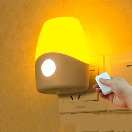 Sensor de luz led de control de sonido de voz activaled led niños de la lámpara de luz bebé de la noche