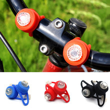 LED Bicycle Cycling Warning Taillight Bike Lamp Fog Light Silicone Headlight Strobe Bicycle Accessories 1Pc(China)