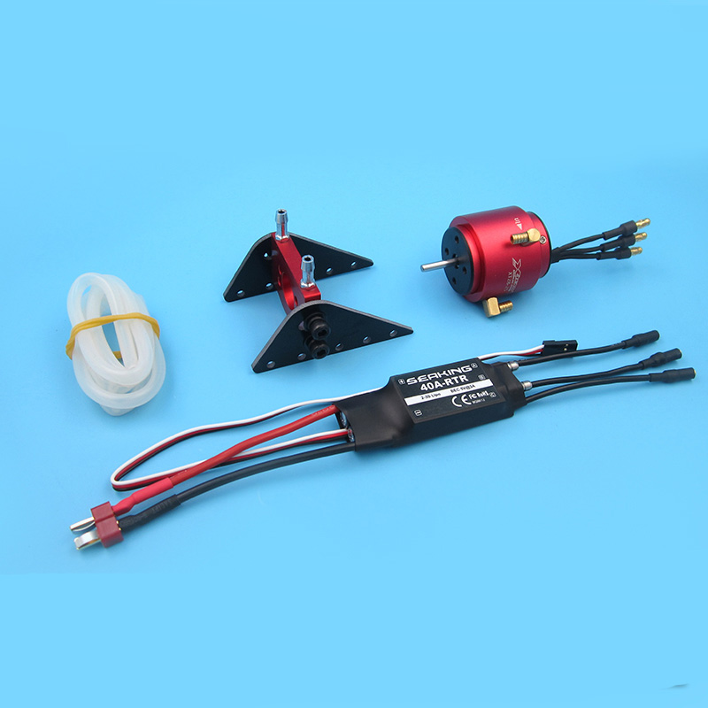 Remote Boat Power Kit <font><b>2S</b></font>-3S Water-cooled Dual Way 40A Brushless ESC+2835 Brushless <font><b>Motor</b></font>+<font><b>Motor</b></font> Cooling Jacket for RC Jet Boats image