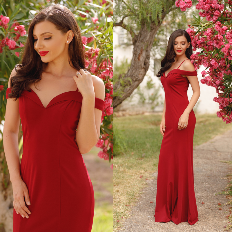 Prom Dresses Sexy V-neck Women's 2020 Elegant Autumn Winter Sleeveless Long Prom Evening Party Dresses Ever Pretty EP07017