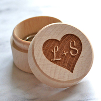 24 Designs Personalized Ring Box Wooden Ring Bearer Box Engraved Wedding Customized Wedding Gift Rustic Wedding