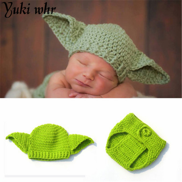 Boy Knitted Star Wars Yoda Outfits Photography Props Crochet Baby ...