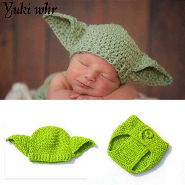 Boy punto Star Wars Yoda trajes fotografía Props Crochet bebé ...