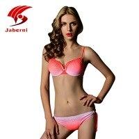 2016 Cute Bikini Push Up Girls Swimsuit Scrunch Halter Underwire Swimwear Ladies Sexy Bikini Set Women