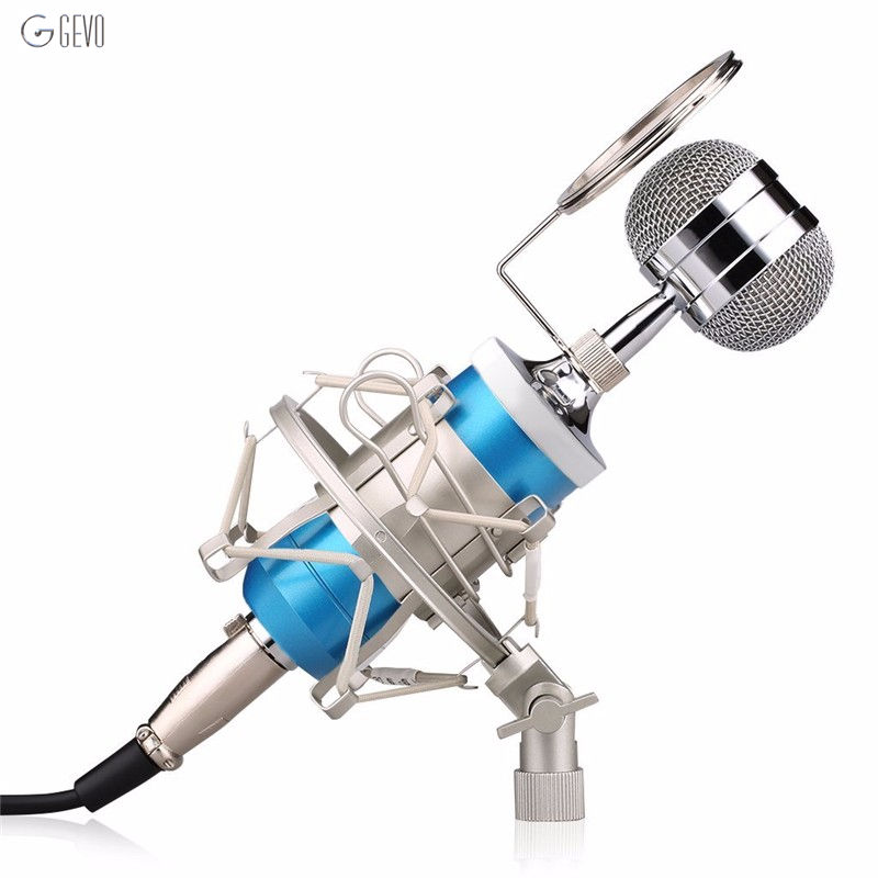 ФОТО BM-8000 Condenser Microphone Professional Handheld With Stand Audio Wired mikrofon For Computer Conference Karaoke Amplifier KTV