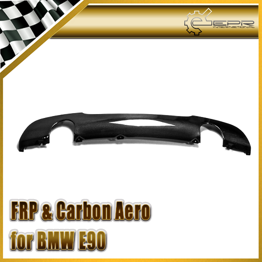 Car Styling For BMW E90 M-Tech Carbon Fiber Rear Lip Glossy Fibre Diffuser(Twin Exhaust)(Option of 325i or 335i, is difference)
