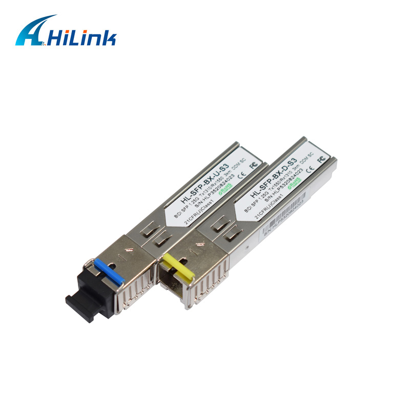 Free Shipping Single Fiber 1G WDM Module 1 25G 1310nm 1550nm 3km DOM BiDi SFP Transceiver