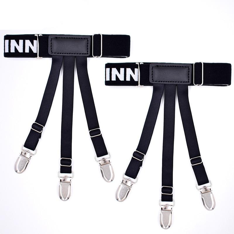 Explosive Men's Jacquard Black Shirt Clip Shirt Anti-skid Garter Nylon YFS-J-MAN High Quality Suspender Belt Adjustable Leisure