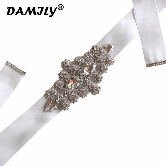 5f57c00b17 US $9.99  Women Belts Luxury Brand Bridal Belt Handmade Rhinestone  Waistband Satin Ribbon Wedding Party Bride Bridesmaid Belt Dress Sash-in  Women's ...