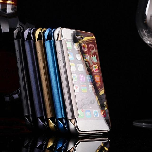release date: 32265 70fc6 US $5.98 |For Apple iPhone 5S Case Luxury Transparent Mirror PU Leather  Smart Flip Cover Case for iPhone 5 5S Phone Fundas Coque Capa on ...