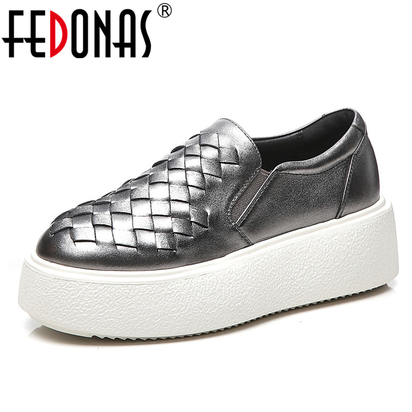 FEDONAS Fashion Round Toe Women Flats Top Quality Genuine Leather Casual Shoes 2019 New Spring Summer Basic Concise Shoes WomanFEDONAS Fashion Round Toe Women Flats Top Quality Genuine Leather Casual Shoes 2019 New Spring Summer Basic Concise Shoes Woman