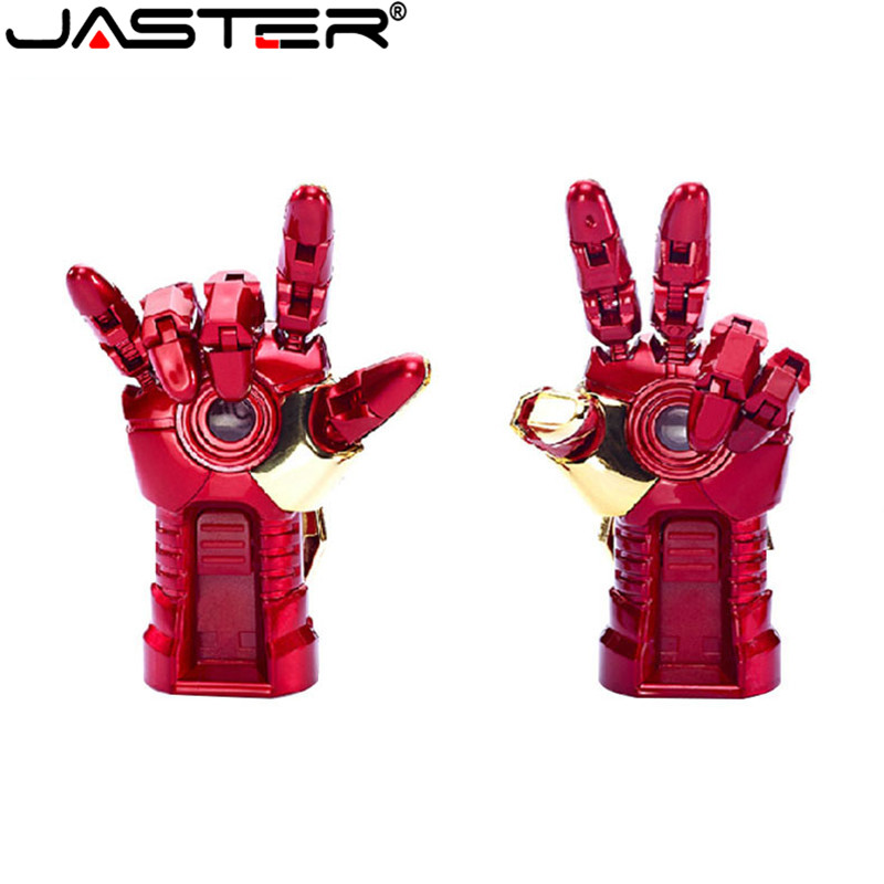 JASTER Free Shipping Real Capacity Avengers Thor Hammer Ironman Metal USB 2.0 Flash Drive Memory Stick 4GB/8GB/16GB/32GB/64GB