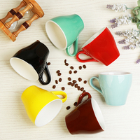 280ml professional game Rafa Cup fancy latte cup coffee cup tulip wide mouth cup and saucer