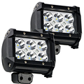 "2 PCS 4"" inch 18W LED Light Lamp for Car Motorcycle Automobiles Work Light Lamp 4WD 4X4 Truck SUV ATV Spot Flood 12V 24V"