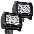 """2 UNIDS 4 """"pulgadas 18 W Lámpara de Luz LED para Coche de La Motocicleta de Automóviles de Trabajo luz de La Lámpara 4WD 4X4 Camión SUV ATV Inundación Del Punto de 12 V 24 V"""