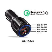 Mzxtby QC3.0 Car Charger 6A fast charging car 2 USB LED lamp qi wireless charger for Xiaomi Huawei Samsung iphone Ipad HtC